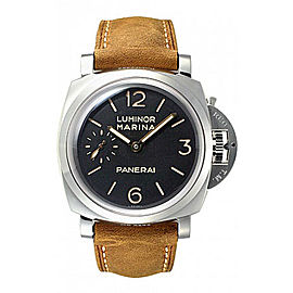 Panerai Luminor Marina PAM00422 Stainless Steel / Leather 47mm Mens Watch