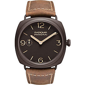 Panerai Radiomir Composite / Leather Manual 47mm Mens Watch