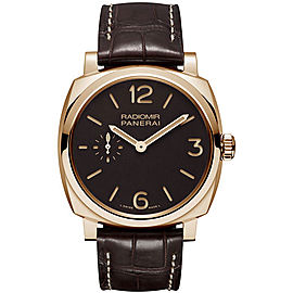 Panerai Radiomir 18K Rose Gold / Leather 42mm Mens Watch