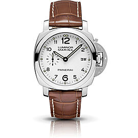 Panerai Luminor PAM00523 Stainless Steel / Leather Automatic 42mm Mens Watch