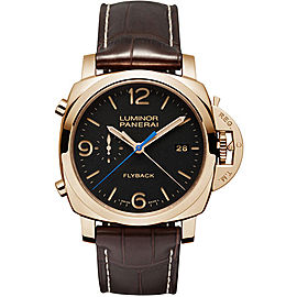 Panerai Luminor 18K Red Gold / Leather 44mm Mens Watch