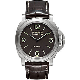 Panerai Luminor PAM00562 Titanium / Leather 44mm Mens Watch