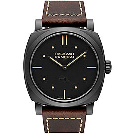 Panerai Radiomir Matt Black Ceramic / Leather 48mm Mens Watch