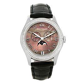 Patek Philippe Complications 4936G-001 18K White Gold & Diamond 37mm Unisex Watch