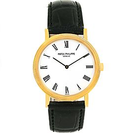 Patek Philippe Calatrava 5120 18K Yellow Gold & Leather Automatic 35mm Mens Watch