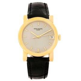 Patek Philippe Calatrava 5012 18K Yellow Gold & Leather Automatic 33.5mm Mens Watch