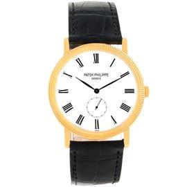 Patek Philippe Calatrava 5119J 18K Yellow Gold / Leather Manual 36mm Mens Watch