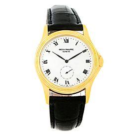 Patek Philippe Calatrava 5115 18K Yellow Gold & Leather Manual 35mm Mens Watch