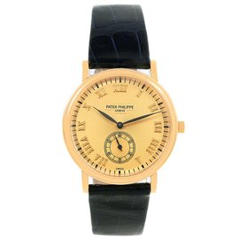 Patek Philippe Calatrava Officier 5022 18K Yellow Gold 33mm Manual Unisex Watch
