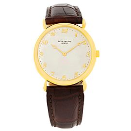 Patek Philippe Calatrava 3820 18K Yellow Gold Teardrop 32mm Mens Watch