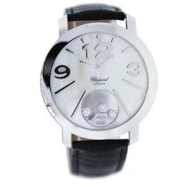 Chopard Happy Diamonds 20/7449 18K White Gold 40mm Womens Watch