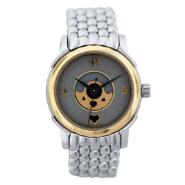 Perrelet Lady Coeur 640 Stainless Steel and 18K Yellow Gold 30mm Womens Watch