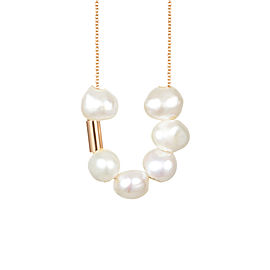 Pearls & Tube On Chain