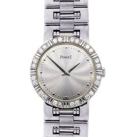 Piaget 498235 18K White Gold Diamond Quartz 24mm Womens Watch