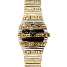 Piaget Polo 861C 18K Yellow Gold Diamond Quartz 23.5mm Womens Watch
