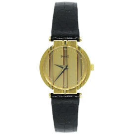 Piaget Polo 8263 18K Yellow Gold & Leather Quartz 25mm Womens Watch