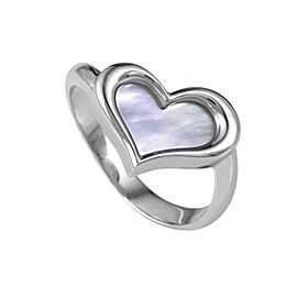 Piaget 18K White Gold Mother of Pearl Heart Ring