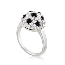Picchiotti 18K White Gold Diamond and Onyx Ring Size 9.0