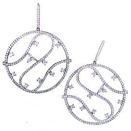 Piero Milano 18K White Gold Diamond Pave Round Earrings