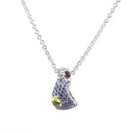 Piero Milano 18K White Gold Diamond and Gemstone Pendant Necklace
