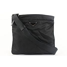 Prada Black Nylon Tessuto Messenger Crossbody Bag 154PR430