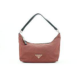 Prada Burgundy Nylon Tessuto Mini Bag Shoulder Baguette 3pr114