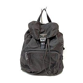 Prada Dark Brown Nylon Tessuto Backpack 863221