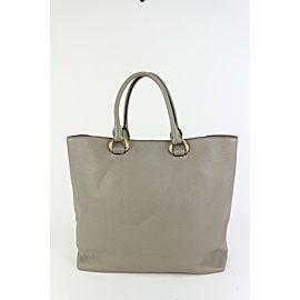 Prada Large Grey Daino Vitello Leather Shopper Tote Bag 831pr36