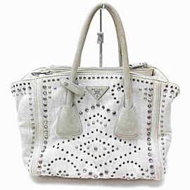 Prada Beaded Stud Crystal Tote 860406