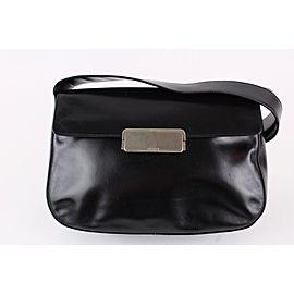 Prada Black Leather Flap Shoulder Bag 4pr1222