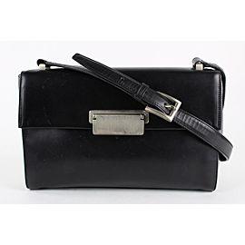 Prada Black Leather Flap Shoulder Bag 6pr1228