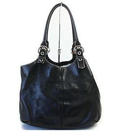 Prada Black Leather Hobo Shoulder Bag 862264
