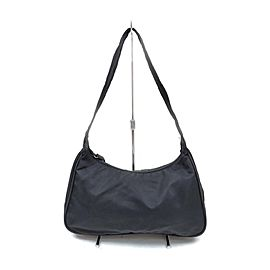 Prada Black Nylon Tessuto Hobo Bag 863364