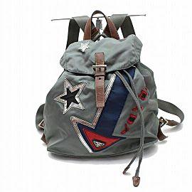 Prada Limited Edition 870869 Gray Nylon Backpack
