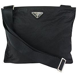 Prada Black Nylon Tessuto Crossbody Messenger Bag 826pr85