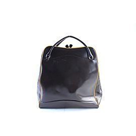 Prada Tall Bowler 19pr0621 Brown Leather Weekend/Travel Bag