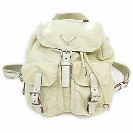 Prada Beige Twin Pocket Backpack 860985