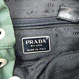Prada Green Tessuto Nylon Twin Pocket Backpack 863285