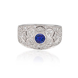 Le Vian Certified Pre-Owned Blueberry Tanzanite and Vanilla Diamonds Ring in 14k Vanilla Gold