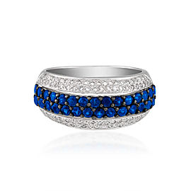 Le Vian Certified Pre-Owned Blueberry Sapphires and Vanilla Diamonds Ring set in 14k Vanilla Gold