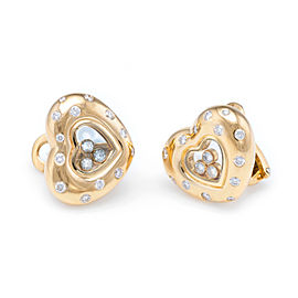 Chopard 18K Yellow Gold with 1.34ct. Diamond Heart Earrings
