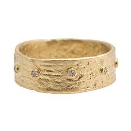 Armenta Sueno 18k Yellow Gold White Diamond Ring Size 7
