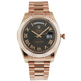 Rolex 218235 Day Date II Rose Black Roman Dial President