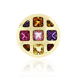 Cartier Pasha 18k Yellow Gold Multi Gemstone Ring