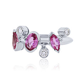 Cartier Meli Melo Platinum Diamond and Pink Sapphire Ring