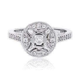 Tacori 18K White Gold 0.50ctw Diamond Ring Size 6