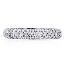 18K White Gold and 0.44ct Diamond Band Ring Size 6.5