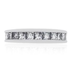 14K White Gold 1.00ct. Diamond Band Size 4.5