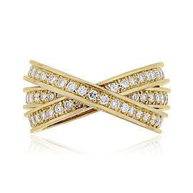 Cartier 18k Yellow Gold 1.55ctw Diamond Trinity Ring