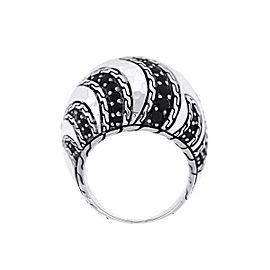 John Hardy Sterling Sterling Silver Sapphire, Diamond Ring Size 7.75